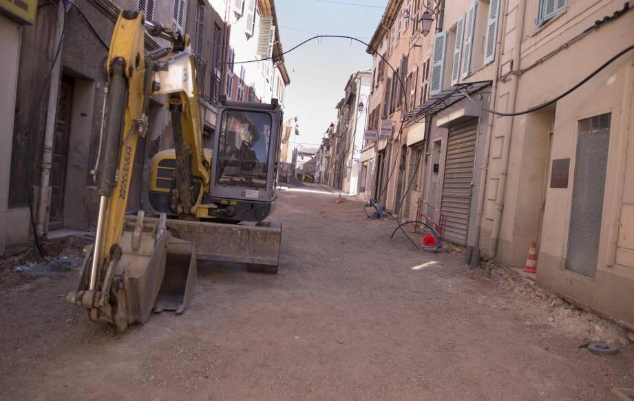 Les tavaux engagés rue Célestin-Gayol.