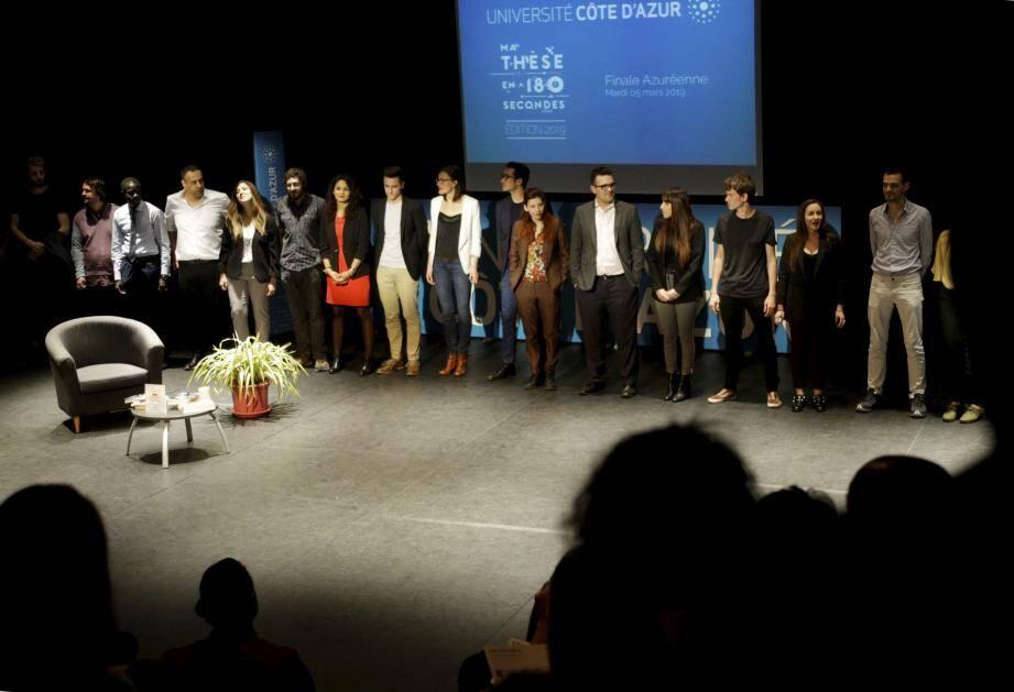 Les dix-huit candidats ont investi, un par un, la scène de la salle Michel-Simon du TNN pour le concours « Ma thèse en 180 secondes ».
