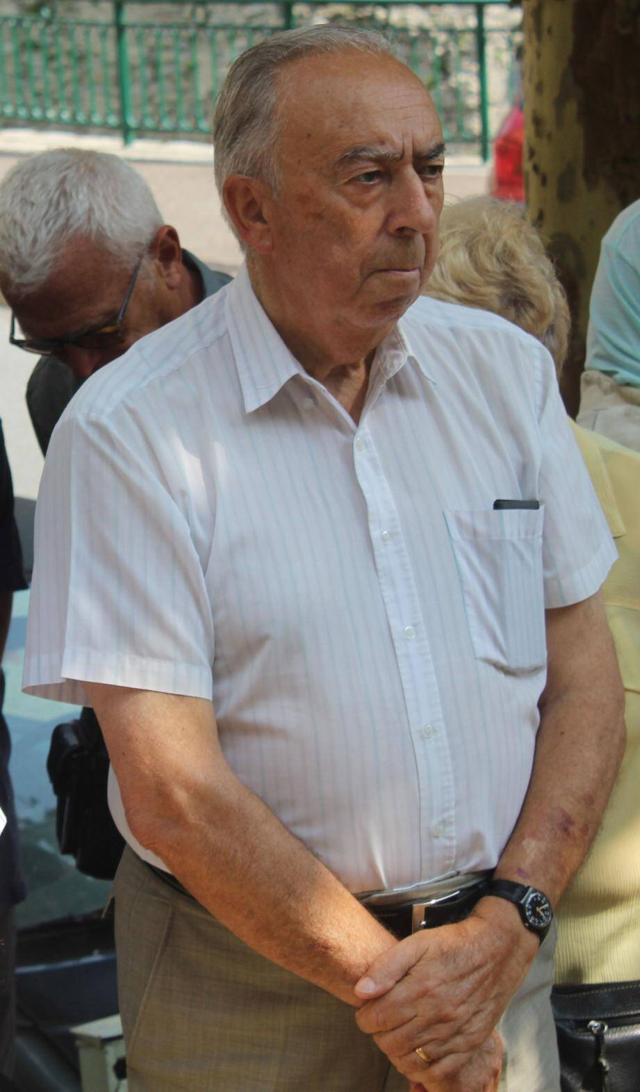 Mario Amério, cet été, lors de la fête de la Saint-Bernard.