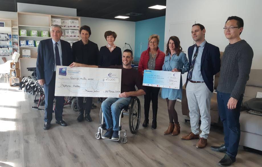 La nouvelle boutique de matériel de confort et maintien à domicile démarre sous les meilleurs auspices avec le soutien de la Ville, BP Méditerranée et Initiatives Terre d'Azur.