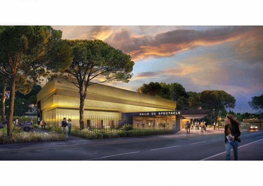La future salle de spectacle - ou complexe culturel, au choix - a encore fait parler lors du conseil municipal qui s'est tenu jeudi soir.(Projection DR)