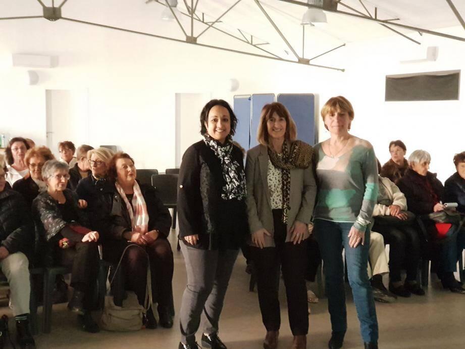 Karima Salmi, Hélène Rigal et Christiane Boccaletti (de gauche à droite) animeront l'atelier.