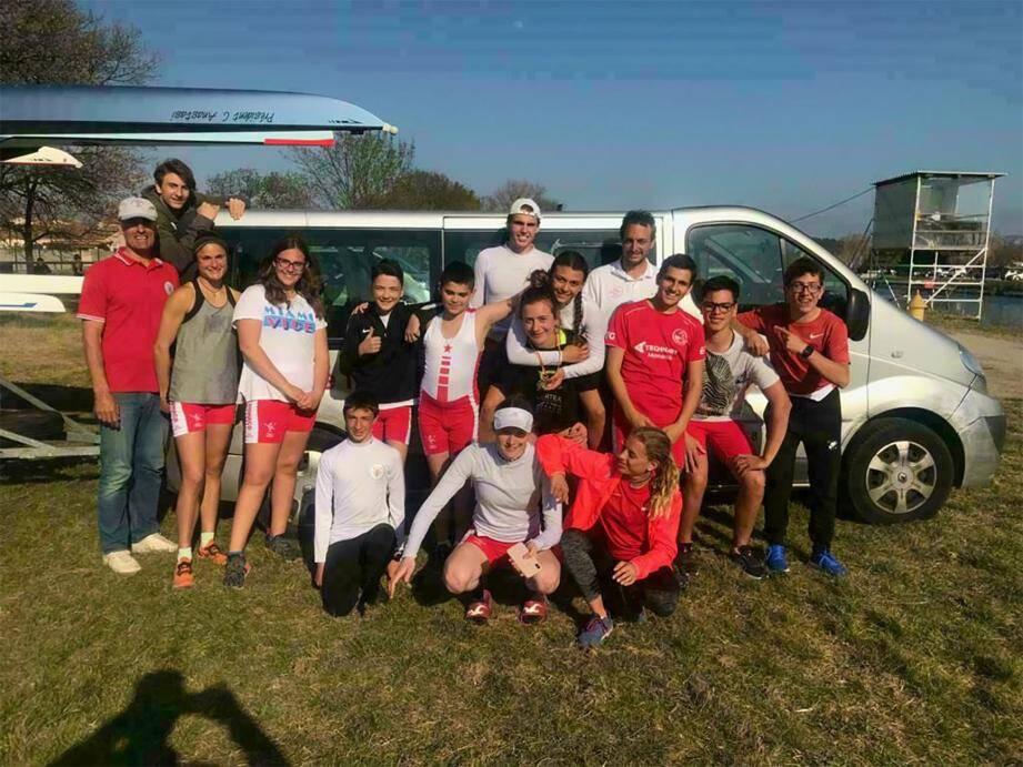 En régate en rivière à Marignane, pour les championnats Régionaux PACA, les équipages de la SNM ont su tirer leur épingle du jeu.