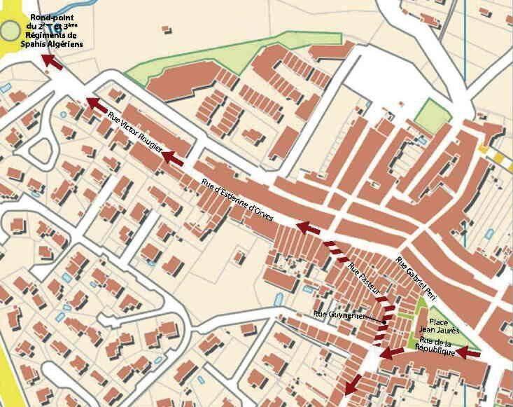Les travaux se poursuivent actuellement dans les rues Guynemer et Pasteur, fermées à la circulation.(Document DR)