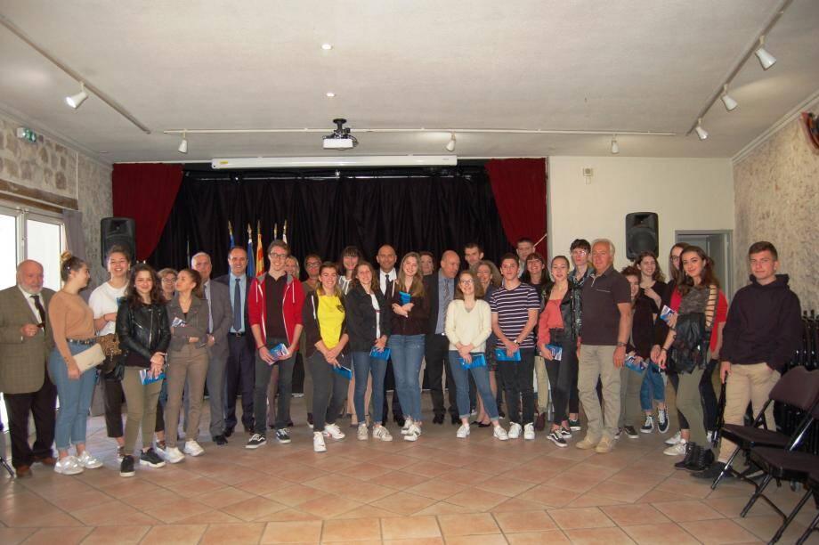 Michaël Janas, Président du TGI de Grasse, chargé du respect des libertés, était avec ces jeunes « acteurs de la République ».