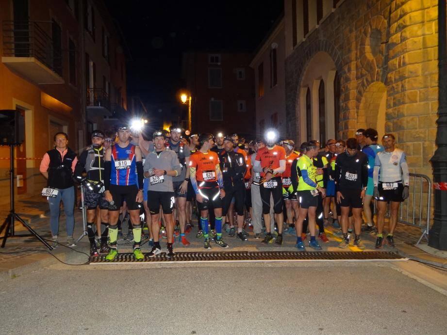 Ils étaient 111 coureurs au départ samedi à Roquebillière.