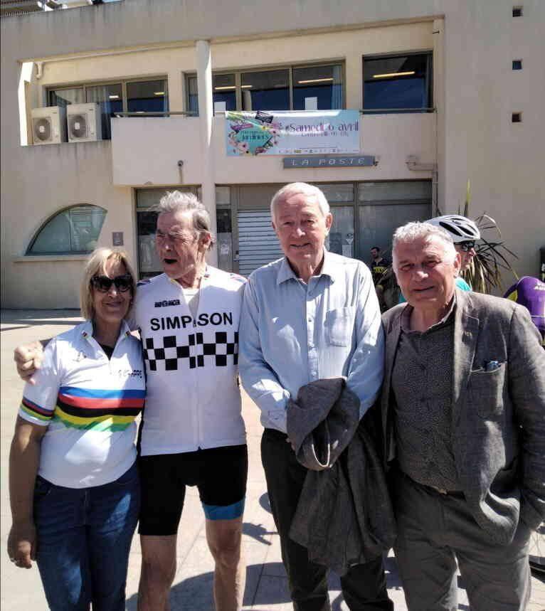 Georges Chappe en compagnie de Georges Ferrero, de Franky Lapierre et de Rachida Amar.