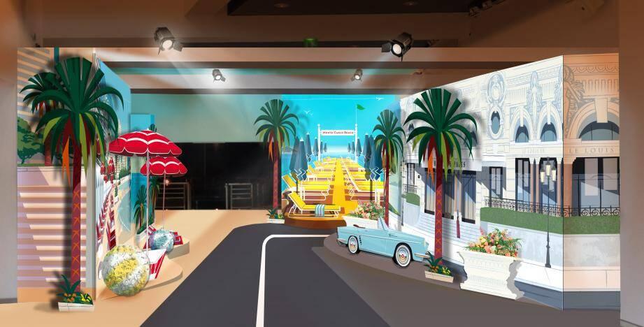 Les illustrations de Monsieur Z évoquent la Riviera des plus belles années.