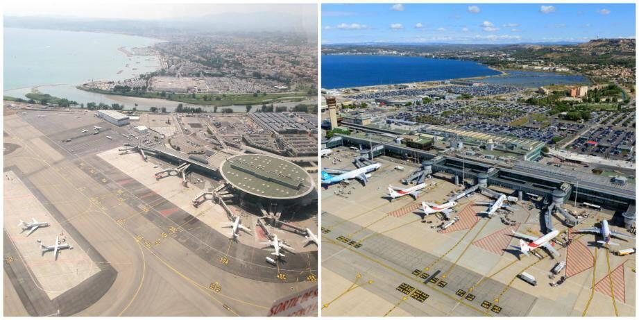 Les aéroports de Nice et Marseille.