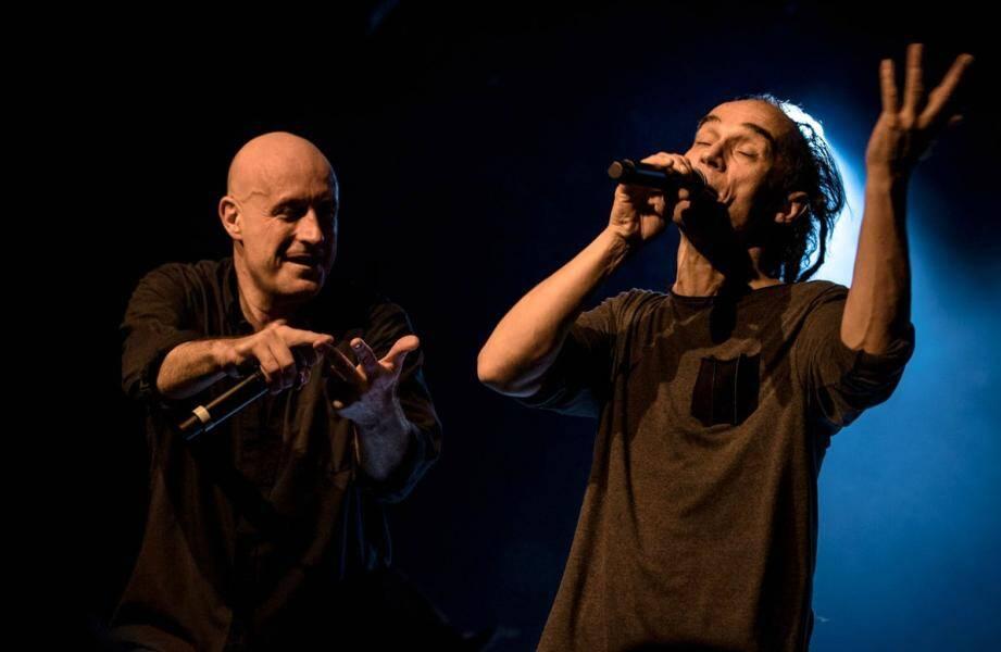 Vérino et Zaho, du groupe Sinsemilia.