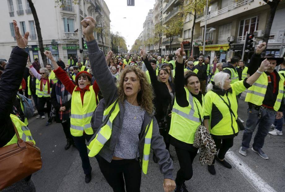 Illustration de manifestation à Nice