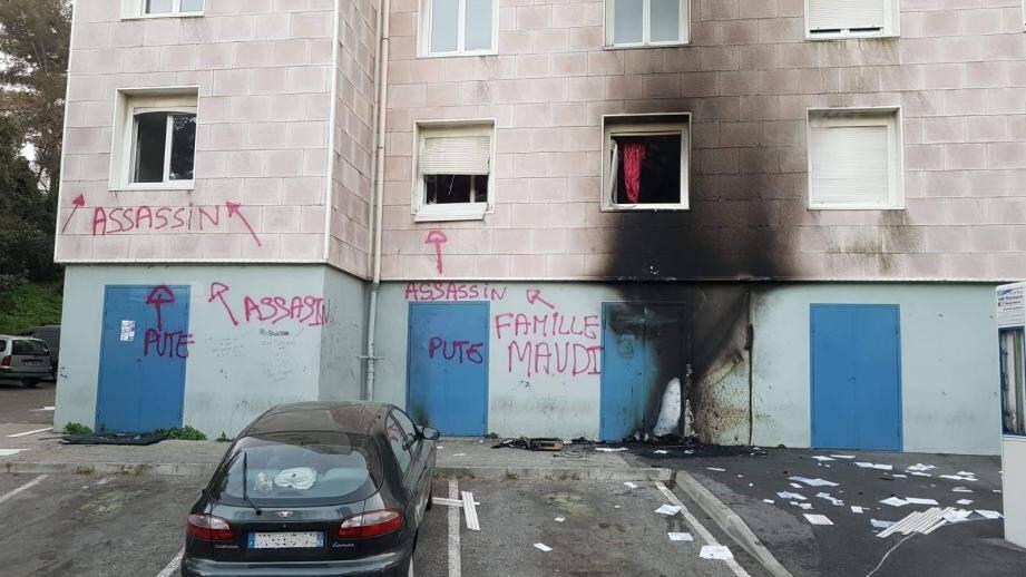 L'incendie a été rapidement circonscrit mais l'appartement est détruit.