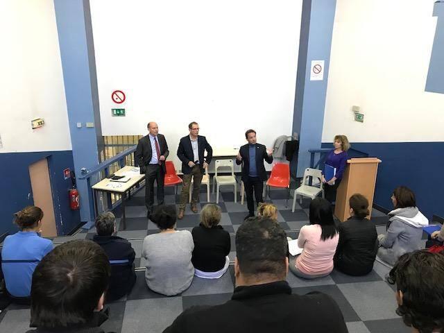 Le Grand débat national ce lundi à la maison d'arrêt de Nice.