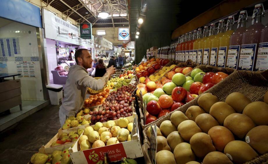 Le marché de Menton.
