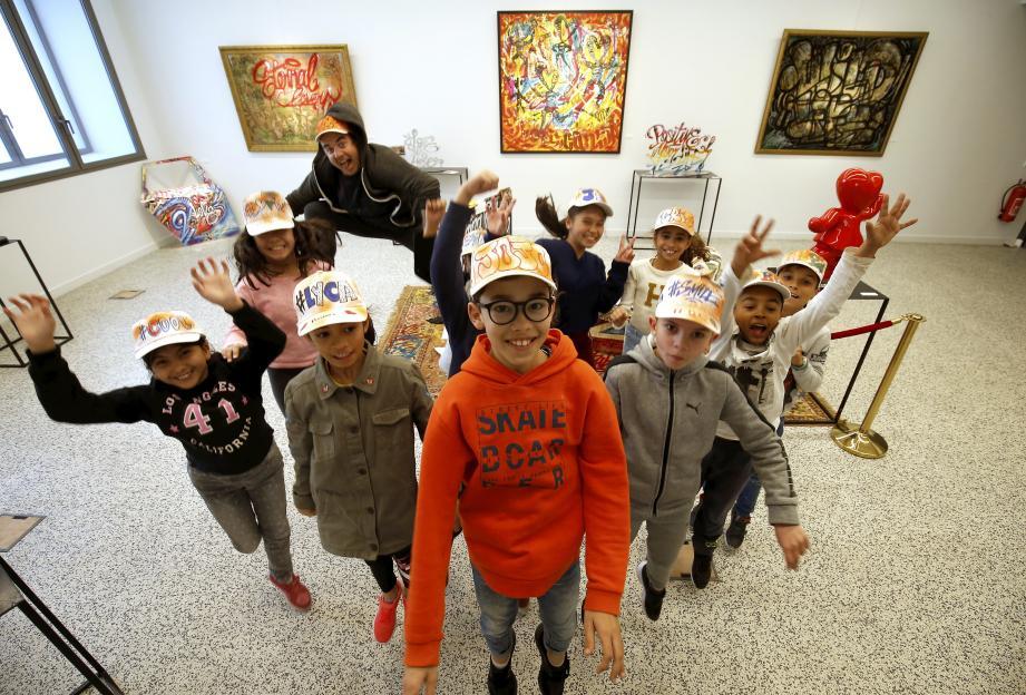 Chaque écolier est reparti avec une casquette personnalisée et de super souvenirs de cette expérience hors les murs de l'école.
