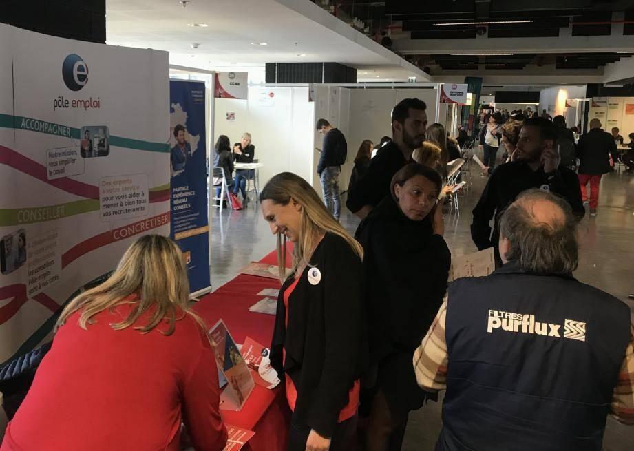 Le 5e forum de l'emploi organisé par l'OGC Nice et Pole Emploi a attiré 4.000 visiteurs jeudi à l'Allianz Riviera.