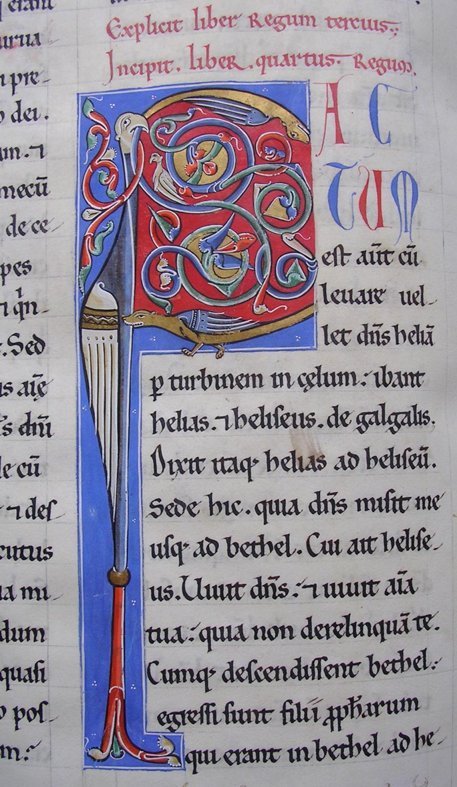 La Bible est conservée à l'abbaye de Lérins.