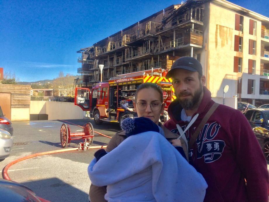Cédric, sa compagne et leur bébé ont rapidement été évacués.