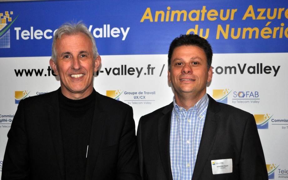 Frédéric Bossard et Franck Lavagna succèdent à Pascal Flamand et Cédric Ulmer à la présidence de Telecom Valley.