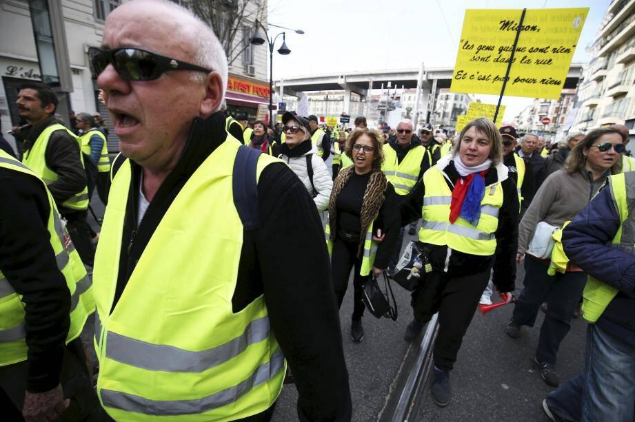 Les gilets jaunes à Nice.
