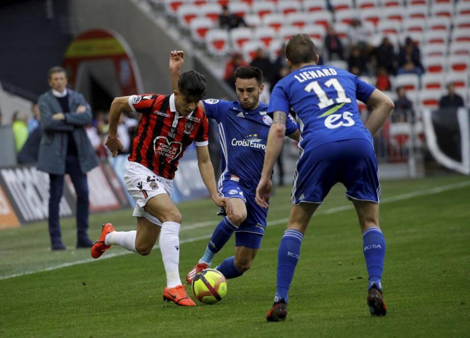 Youcef Atal a marqué son 3e but pour Nice.