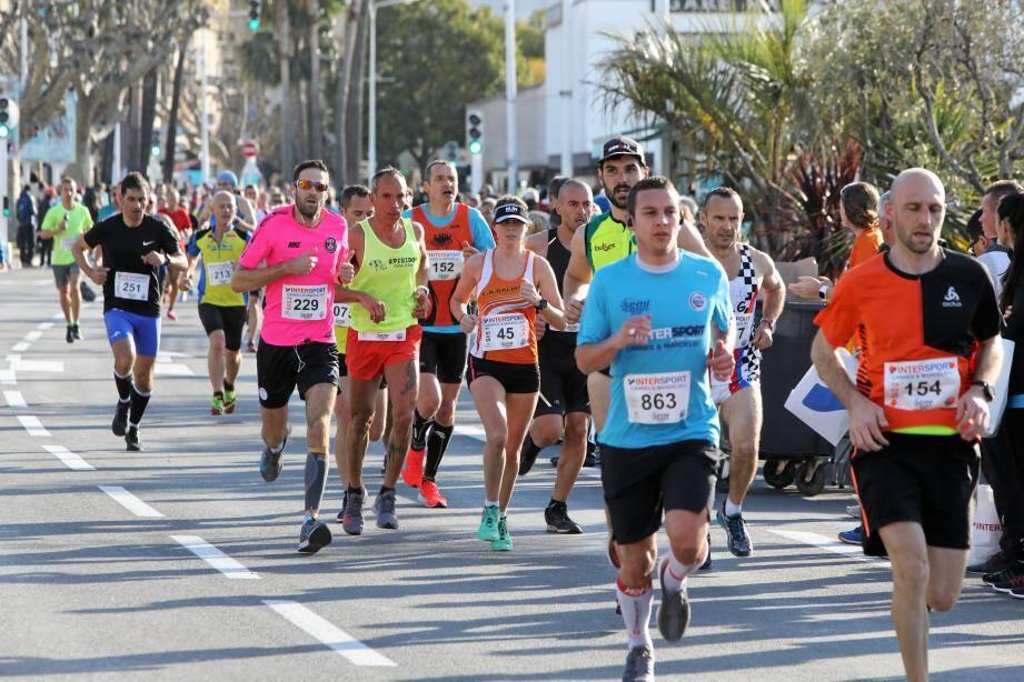 Pendant le semi-marathon.