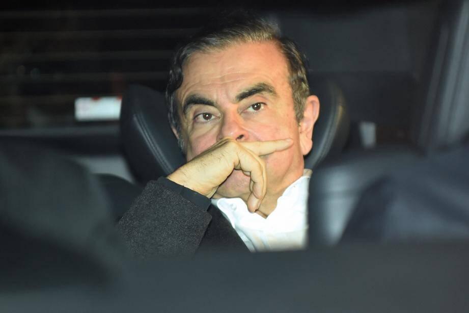 Carlos Ghosn quittant le bureau de ses avocats le 6 mars 2019.
