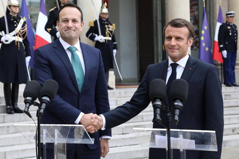 Le Premier ministre irlandais était reçu, mardi, à l'Elysée.