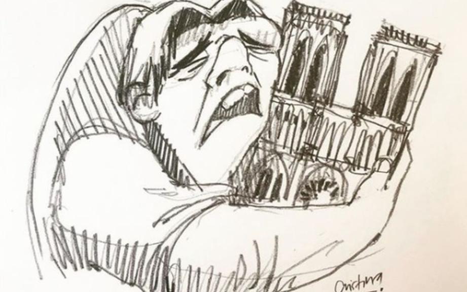 En plus d'une foule d'anonymes, le dessin a été relayé par des médias étrangers et des stars