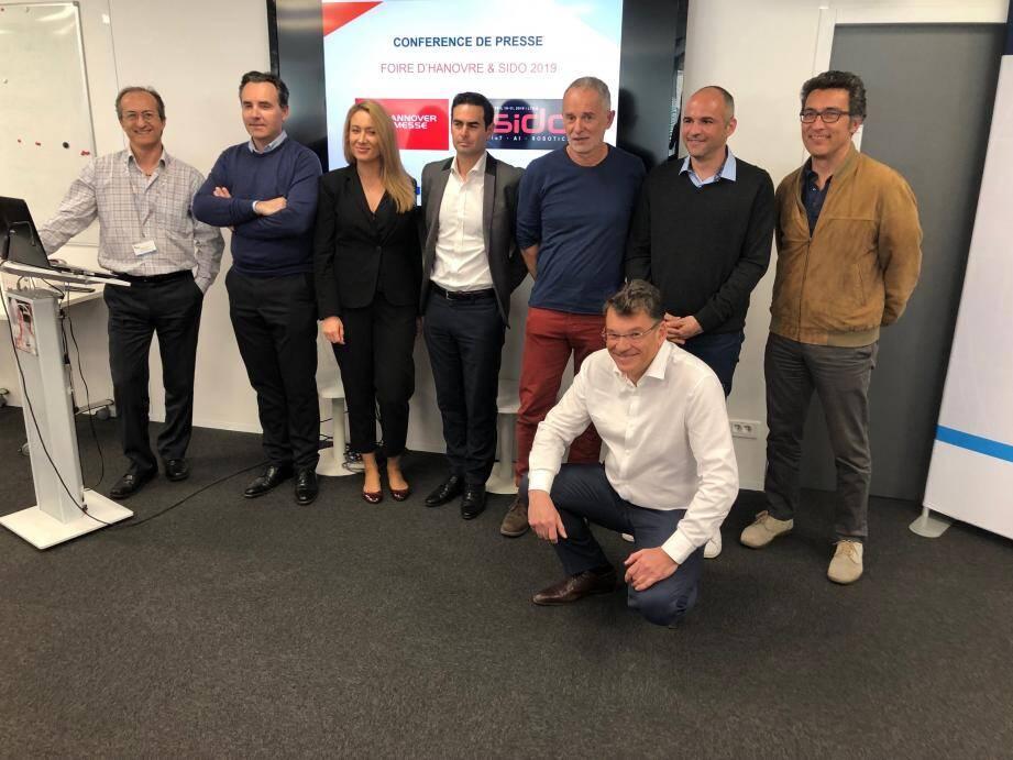 Six des dix-sept startups de la région que le Pôle SCS accompagne à Hanovre et Lyon.