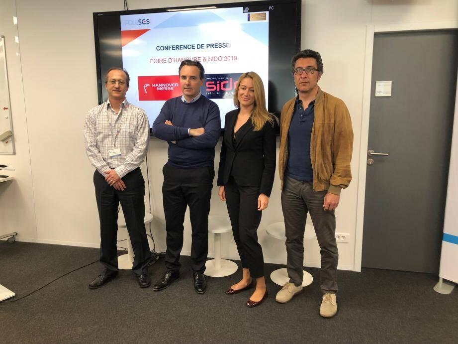 Trois des startups de la région que le Pôle SCS accompagne à Hanovre.