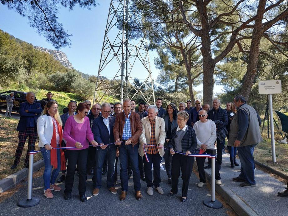 L'impasse de l'Oppidum a été inauguré ce samedi par le maire de Thierry Albertini.