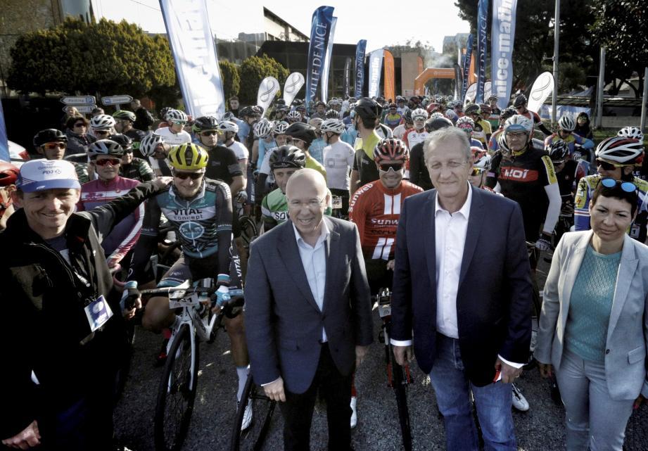 Le départ a été donné hier matin par Jean-Marc Pastorino (Président directeur général du Groupe Nice-Matin) et Eric Ciotti (député des Alpes-Maritimes), au siège de notre titre. Les coureurs professionnels Davide Rebellin (Sovac) et Nicolas Roche (Sunweb, ci-contre) se sont alignés sur l'épreuve, tout comme Cameron Vandenbroucke, apprentie chez Lotto Soudal et fille de Frank. La cycliste de 20 ans a terminé 8e du classement féminin 1 de la DT Swiss (101 km) en 3h10'48''. La Culture Vélo (129 km), elle, a souri à Antoine Berlin (ci-dessous).