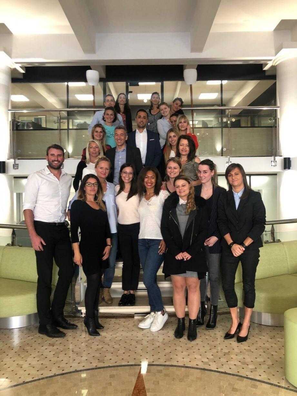 Les salariés de Suisscourtage Monaco tous solidaires pour aider leur collègue Élodie.