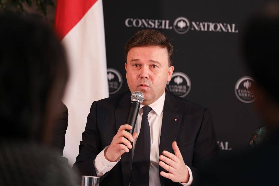 Stéphane Valeri, ce mardi , en conférence de presse.