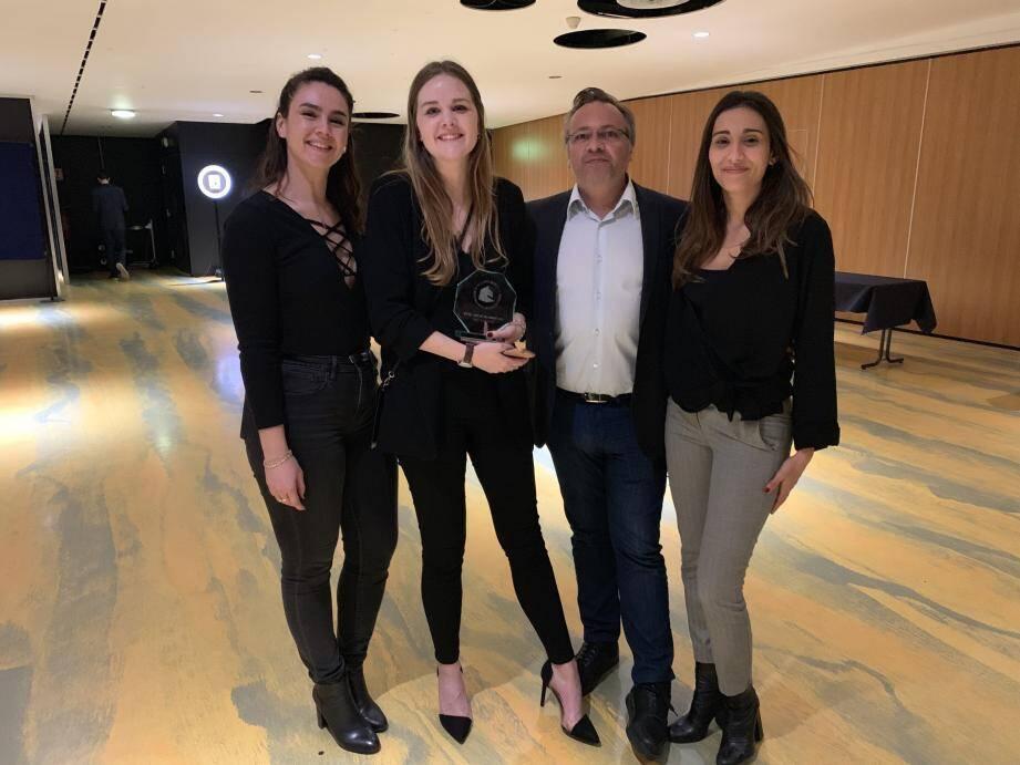 L'équipe gagnante du prix du jury (catégorie spot).(DR)