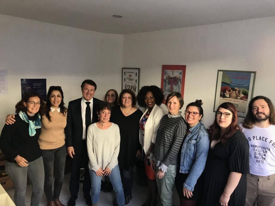 Christian Estrosi et Maty Diouf, son adjointe déléguée aux Droits des femmes, ont réaffirmé leur soutien à l'équipe du Planning familial 06.(DR)