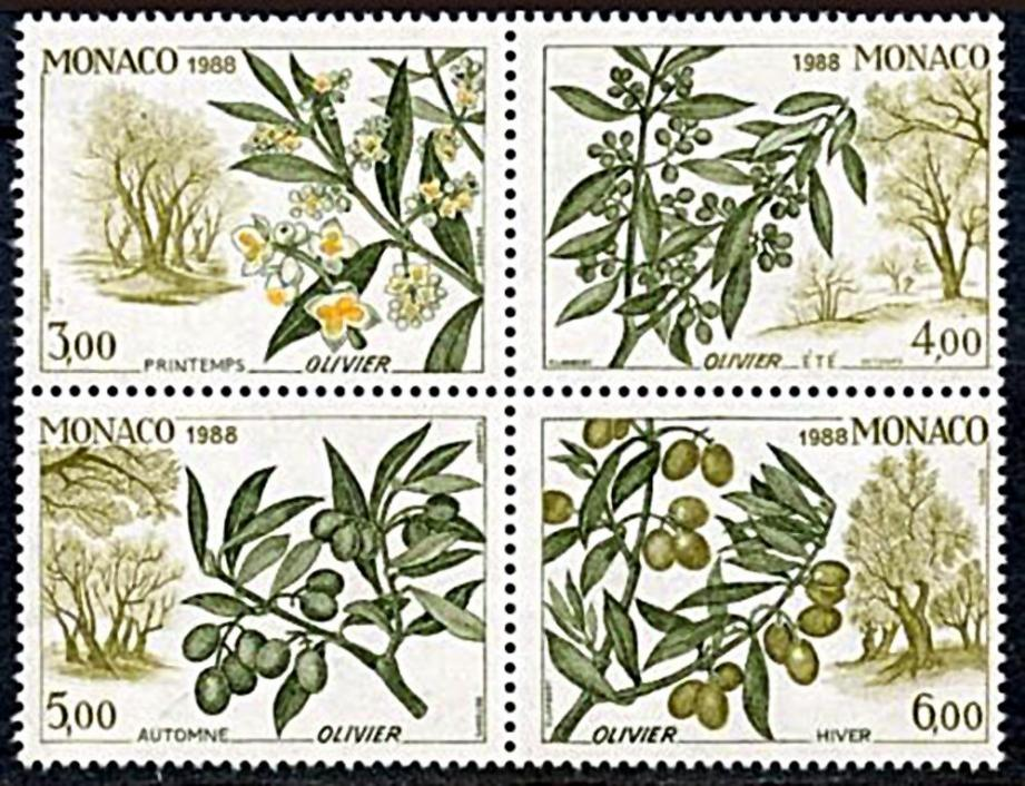 Timbres « L'olivier et les quatre saisons ».(DR)