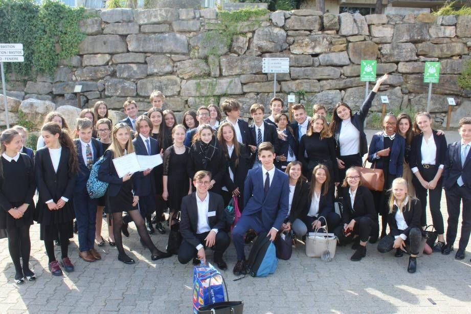 Les élèves de Charles III et de l'International School of Monaco ont participé avec enthousiasme à l'exercice.