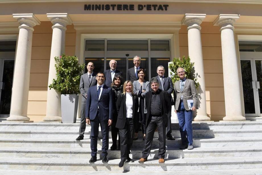 Les acteurs de cette réunion sur les aires marines protégées qui s'est tenue au ministère d'Etat.