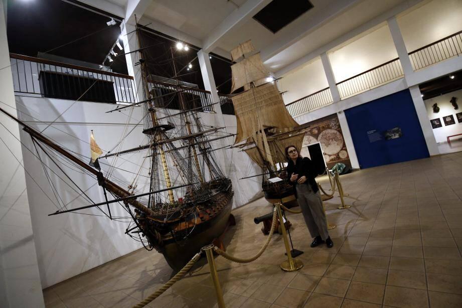 La Sultane et le Duquesne, les deux immenses maquettes d'instruction que présente le musée, pourraient bientôt voguer vers une autre rive de la rade, pour le plus grand plaisir de l'administratrice Cristina Baron.