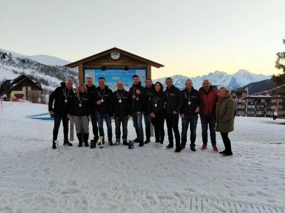 Belle participation des policiers antibois au championnat de France de ski. (DR)