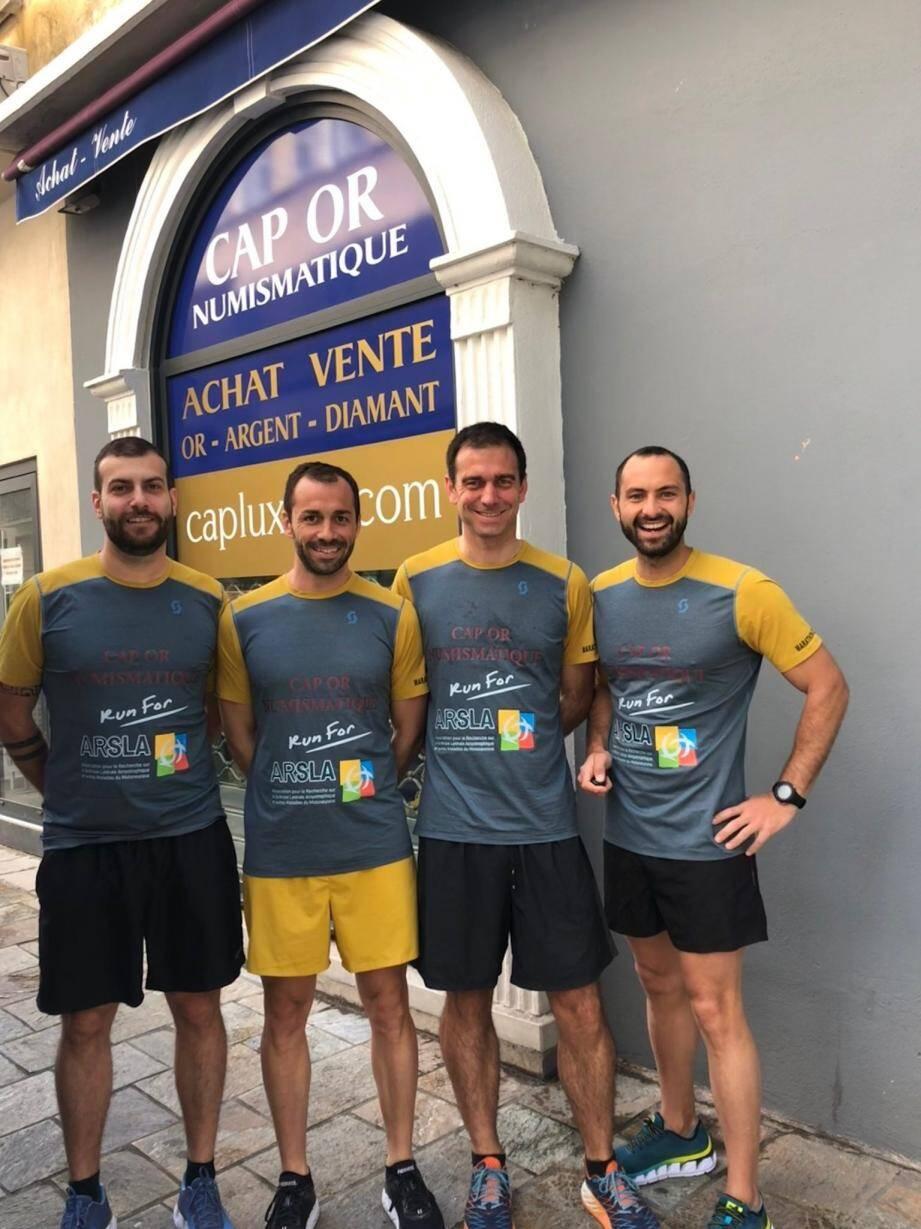 Florian, Paul, Aurélien, Romain et Emmanuel sont tous arrivés au bout de la course.(DR)