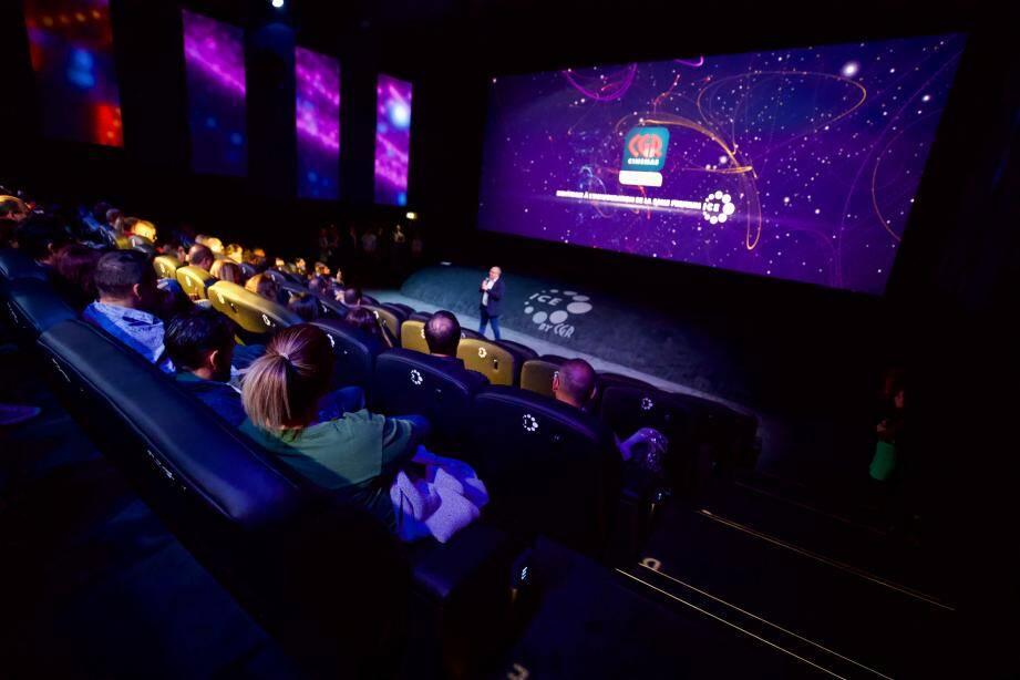 La nouvelle salle Premium Ice du cinéma CGR au Polygone Riviera propose 150 places confortables et spacieuses.
