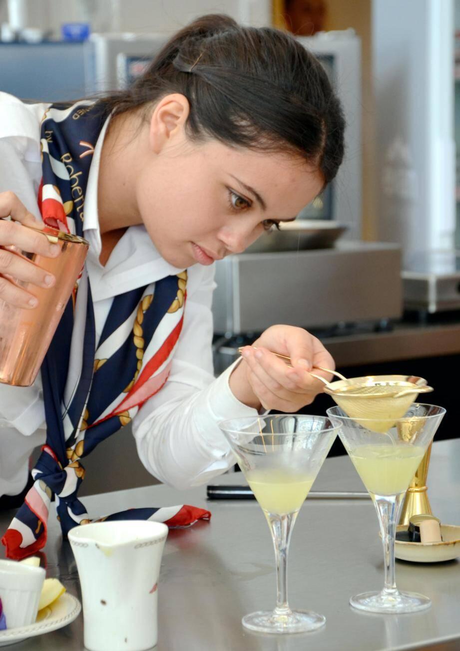 Shirley Montier du Yacht-club de Monaco a terminé deuxième dans le concours de cocktails.