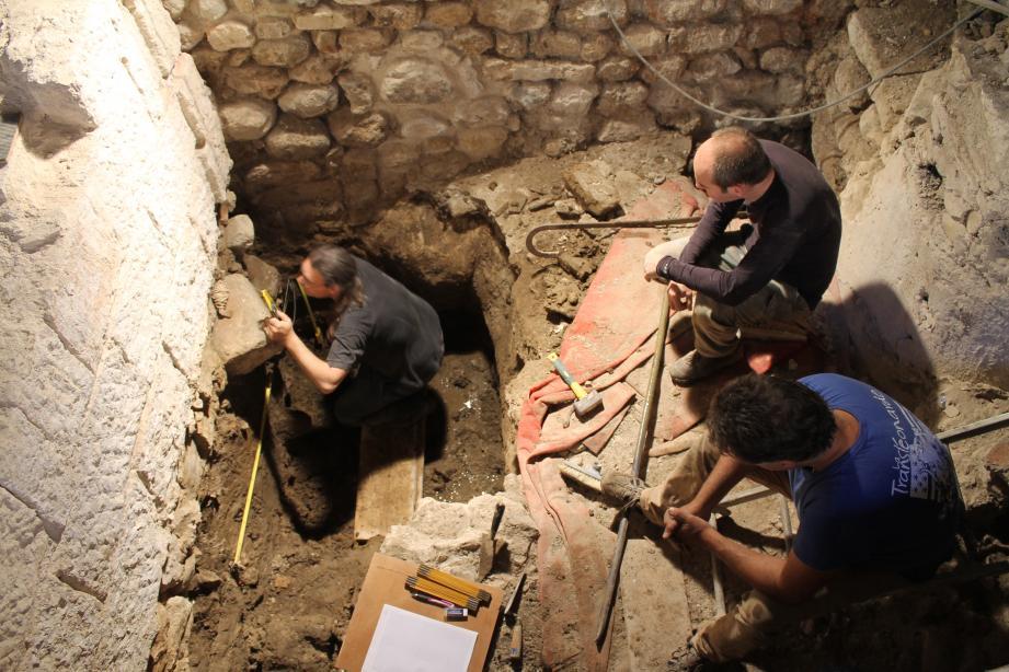 Les archéologues avaient mené des fouilles en juin 2017.