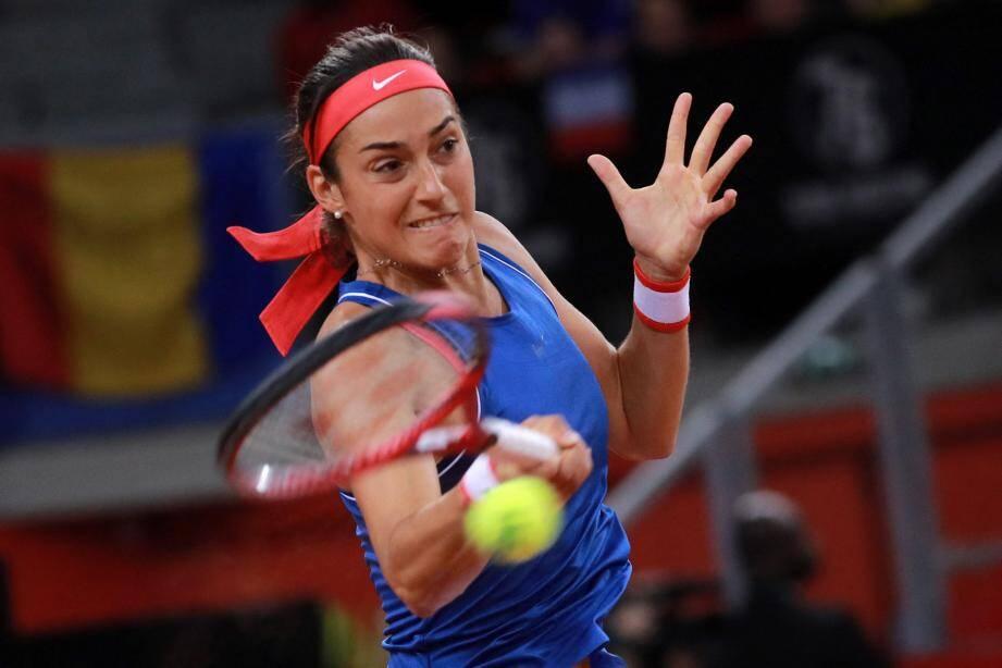 Caroline Garcia a de quoi tirer du positif de sa victoire. Solide, elle n'a jamais laissé de place au doute face à Mihaela Buzarnescu, en s'imposant 6-3, 6-3.