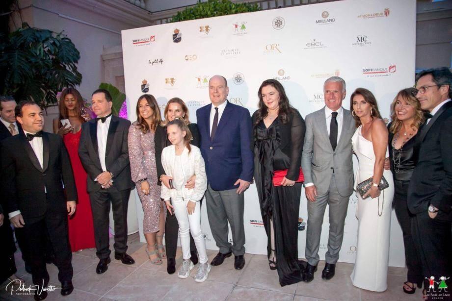 La soirée s'est déroulée présence de du Prince Albert II de Monaco et de nombreuses personnalités.(DR)