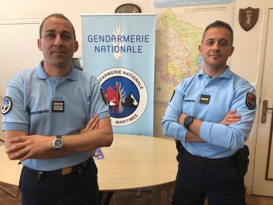 Le colonel Boualam et l'adjudant Rebufat : un dialogue constant pour parer au mal-être de certains gendarmes.
