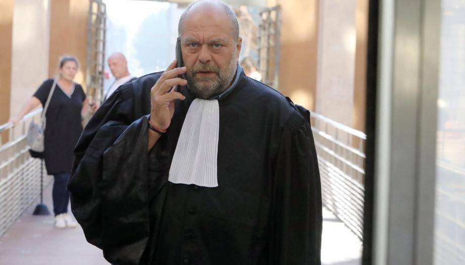 Me Dupond-Moretti à la cour d'appel d'Aix-en-Provence.